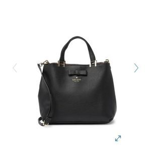 Kate Spade Gwyn Satchel Black Pershing Bag NWT 359